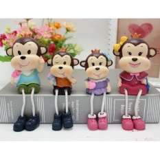 Creative resin monkey wine craft decoration jewelry ornaments living room bedroom room furniture Ornaments hanging foot doll - intl