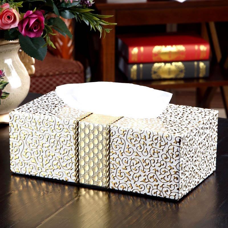 Kotak Tisu Kreatif PU Kulit Tahan Lama Rumah Tangga Serbet Dispenser Holder-Intl