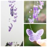 Jual Beli Online Crystal Butterfly Wind Chime Bell Ornament Lucky Gift Yard Hanging Decor Art