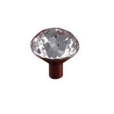 Crystal Glass Diamond Bentuk Laci Kabinet Tombol Gagang Lemari Dapur Lemari Lemari Spesifikasi: Besar Lubang Tunggal-Intl