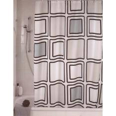 Beli Crystal Polyester Shower Curtain Tulip 180X200Cm Tirai Kamar Mandi Online Terpercaya