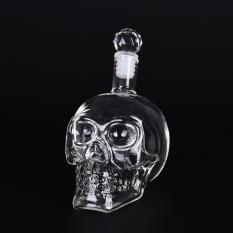 Kepala Tengkorak Kristal Vodka Wiski S Rumah Bar Botol Kaca Decanter 350 Ml-Intl