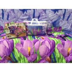 Spesifikasi Csa Bedcover Motif Bunga 180X200 Violet Yang Bagus Dan Murah