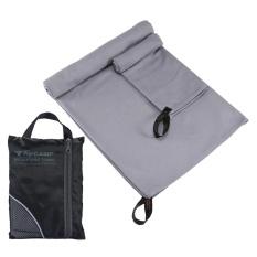 Cusepra 2 Pcs/set Cepat Kering Microfiber Penyerap Handuk Mandi + Handuk Kecil untuk Olahraga Gym Perjalanan Berenang Camping Beach-Intl
