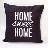 Toko Cushion Cover Sarung Bantal Sofa Home Sweet Home Black Online Terpercaya