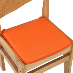 Kantor Kursi Garden Indoor Bantalan Kursi Makan Tie On Square Foam Patio UK Orange-Intl