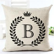 Disesuaikan Bahasa Inggris Letter Stamp Cotton Linen Dekoratif Bantal Sofa Bantal Kursi Mobil untuk Hadiah Anak-Internasional