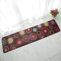 Lucu Kartun Non-slip Panjang Dapur Lantai Tikar Penyerap Karpet untuk Kamar Tidur Kamar Mandi Tahan Lama Masuk Keset Parlor Yoga Mat 40x160 Cm (Hitam) -Intl