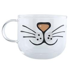 Jual Kucing Lucu Boronsilicate Kaca Transparan Mug Cangkir Kopi Dekorasi Air 550 Ml Online Di Tiongkok
