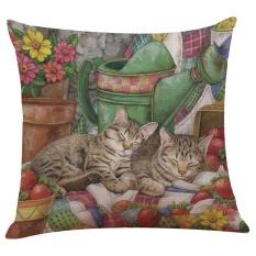 Lucu Kucing Sofa Bed Rumah Dekorasi Festival Sarung Bantal-Internasional