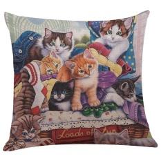 Toko Lucu Kucing Sofa Bed Rumah Dekorasi Festival Sarung Bantal Sarung Bantal Intl Lengkap Tiongkok
