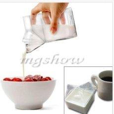 Cute Creamer Susu Karton Kaca Cup Coffee Air Minum Botol Pitcher Unik