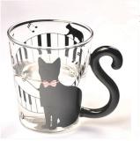 Lucu Kreatif Kucing Kitty Cangkir Teh Gelas Cangkir Mug Cangkir Kopi Susu Musik Terbaru