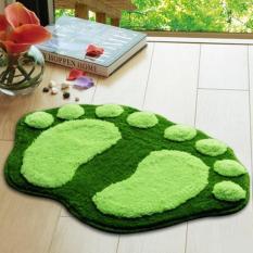 Kaki Lucu Pola Karpet Karpet Lantai Kamar Mandi Kamar Tidur Non-slip Shower MAT (Hijau)-Intl