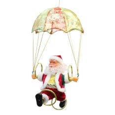 Cute Parachuting Rolling Hula Hooping Santa Claus Gambar Lucu Musik Menyanyi Mainan Listrik Natal Hiasan Gantung Ornamen Hadiah untuk Anak-anak Ukuran: Santa Claus Parachuting dengan Hula Hoops 57*20*20 Cm-Intl
