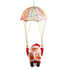 Cute Parachuting Rolling Hula Hooping Santa Claus Gambar Lucu Musik Menyanyi Mainan Listrik Natal Hiasan Gantung Ornamen Hadiah untuk Anak-anak Ukuran: Santa Claus Gulungan Bila Parachuting 54*12*10 Cm-Intl