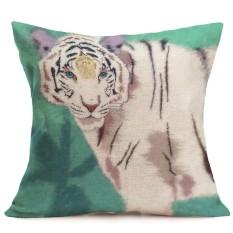 Lucu Harimau Leopard Sofa Tempat Tidur Rumah Dekorasi Festival Bantal Kursi Sarung Bantal Kasus-Internasional