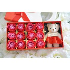 Cara Beli Cutevina Flower Soap Bunga Sabun Mawar Kado Valentine Buket Bunga 12 Mawar Boneka Bng001