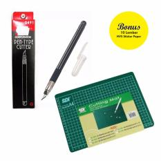 Review Cutter Pen Cutting Mat A4 Free Sticker Paper 10 Sheet Sdi Di Jawa Barat