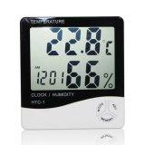 Review Terbaik Termometer Hygrometer Digital Cyber Lcd Jam Alarm Meteran Pengukur Suhu Karton Pak