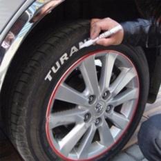 D-Pocket 1 Set Putih-Warna Ban Tetap Marker Pen untuk Ban Mobil Andmotocycle Tyre-Intl