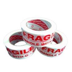 Miliki Segera Daimaru Lakban Fragile Isolasi Pecah Belah Putih Bundle Pack 3 Pcs