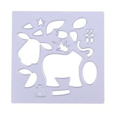 Sapi Perah Sapi Craft Puzzle Die Cutting Scrapbooking DIY Dekorasi-Intl