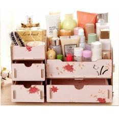 Spesifikasi Damura Rak Kayu Kosmetik 29 Kupu Cosmetic Stationary Alat Tulis Organizer Flower Paling Bagus