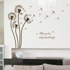 Dandelion Bunga Bahasa Inggris Letter Wall Sticker Decal Home Decor PVC Mural Wallpaper House Art Gambar Ruang Tamu Senior Dewasa Remaja Anak-anak Kamar Tidur Dekorasi-Intl