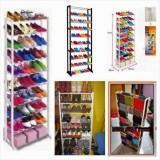 Diskon Dapurbunda Amazing Shoe Rack Rak Sepatu Portable 10 Susun Putih Branded