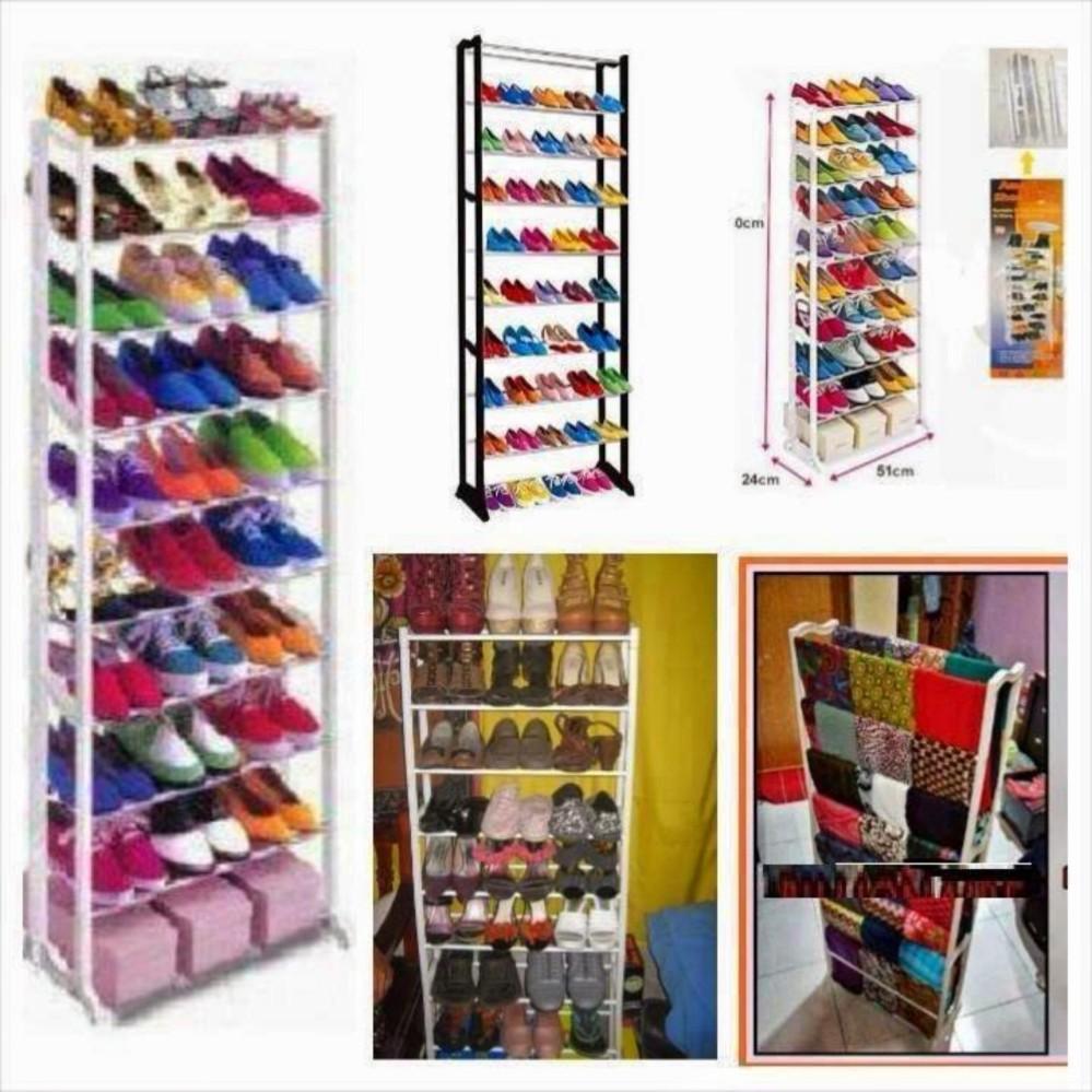 Cocok juga sebagai hadiah DapurBunda Amazing Shoe Rack Rak Sepatu Portable 10 Susun - Putih
