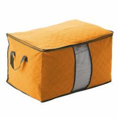 DapurBunda Baju Organizer Storage Box Bamboo Charcoal Bambu Storage Kecil - Orange