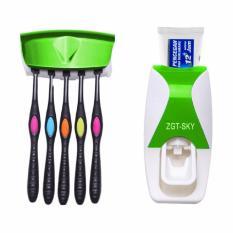 DapurBunda Dispenser Odol / Dispenser Pasta Gigi Odol / Tempat Sikat Gigi Otomatis - HIJAU
