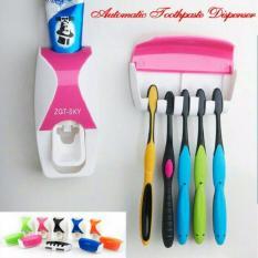DapurBunda Dispenser Odol / Dispenser Pasta Gigi Odol / Tempat Sikat Gigi Otomatis - PINK