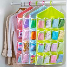 DapurBunda Gantung 16 Kantong Hanger Organizer Underwear Pouch Korean - 1 Pcs  ( HIJAU )
