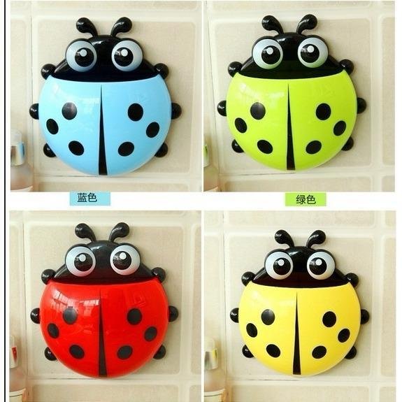 Review DapurBunda Ladybug Toothbrush / Dispenser odol Tempat Sikat Gigi Kumbang / Holder Wall Mount Suction