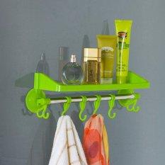 DapurBunda - RGS002 Rak Kamar Mandi Tempat Shampoo Handuk Odol Sabun / Rak tempel / Rak Gantung / Rak Serbaguna Multifungsi - HIJAU