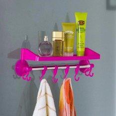 DapurBunda - RGS003 Rak Kamar Mandi Tempat Shampoo Handuk Odol Sabun / Rak Gantung / Rak Tempel / Rak Serbaguna Multifungsi - PINK