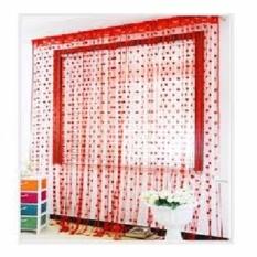 DapurBunda TBL Tirai Benang Pintu Dan Jendela Cantik Motif LOVE - MERAH