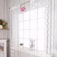 DapurBunda TBL Tirai Benang Pintu Dan Jendela Cantik Motif LOVE - PUTIH