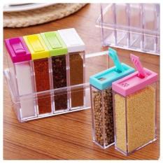 DapurBunda RBU - Tempat Bumbu Dapur / Rak Bumbu Dapur Kotak 6 in 1 (Multicolour