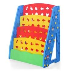 Harga Dark Blue 4 Lapisan Anak Anak Bookshelf Anak Anak Rak Buku Rak Case Rak Buku Rak Buku Organizer Furniture Balita Plastik Rak Kayu Canvas Blue Merah Muda Merah Internasional Baru