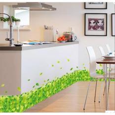 Daun Hijau Sticker Wallpaper atau furniture