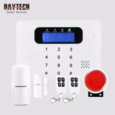 DAYTECH Home Alarm System Wireless GSM Alarm System SOS Calling and Alarm Message LCD Display with Door sensor Alarm&PIR Motion Detector - intl