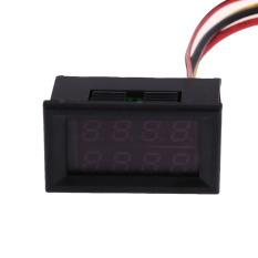Harga Dc 100 V 50A Pengukur Tegangan Volt Pengukur Amper Merah Panel Digital Pengukur Volt Amplifier Yang Murah