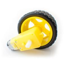 DC Gear motor with tyre 1 set Roda dan Motor