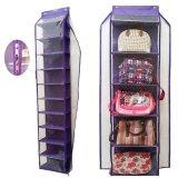 Spesifikasi D Cheryl Bundling Hanging Shoes And Bags Organizer Zipper Set Hsboz St Ungu Yang Bagus
