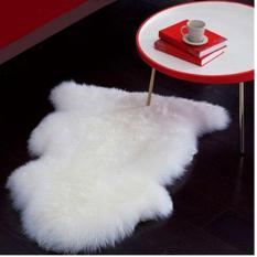 Dear Naina Kain Karpet Bulu A Simetris Dekorasi Alas Foto [Putih]