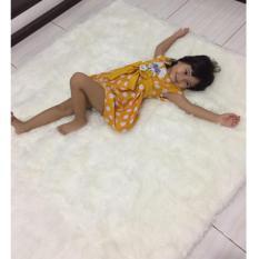 Jual Dear Naina Kain Karpet Bulu Korea Panjang Alas Foto Dekorasi Putih Baru
