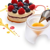 Spesifikasi Deco Sendok Menghias Makanan Desain Menarik Saus Dressing Plate Dessert Steel S Intl Murah Berkualitas